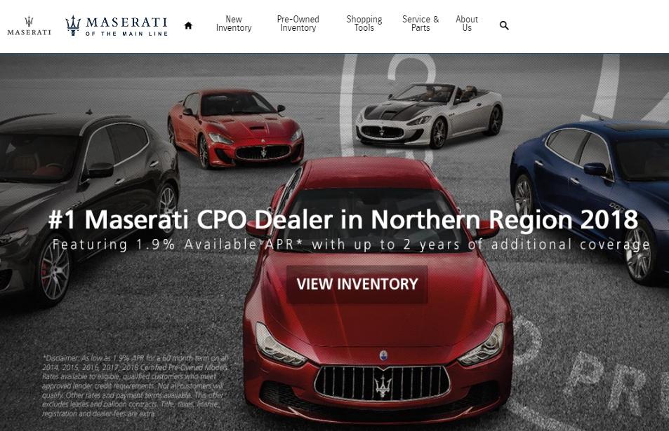 Main Line Maserati Dealership, Serving Devon, West Chester, Malvern, Philadelphia & Wayne PA