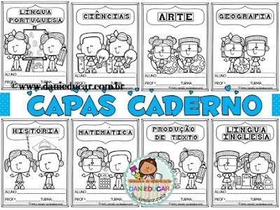 capas para caderno, Ensino fundamental, CAPAS, disciplinas, materias
