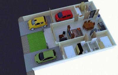 Denah Rumah Kecil Minimalis