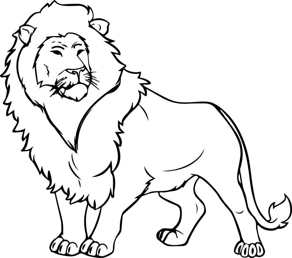 Lion smart coloring page 2