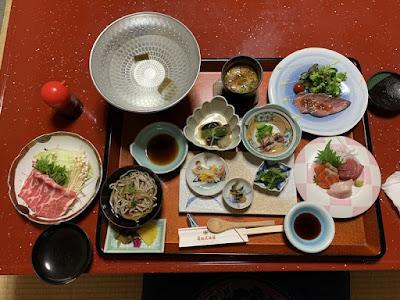 有田屋旅館の夕食