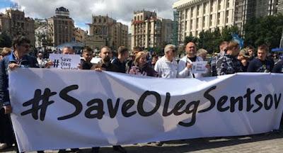 На Майдані відбулася акція на підтримку Сенцов