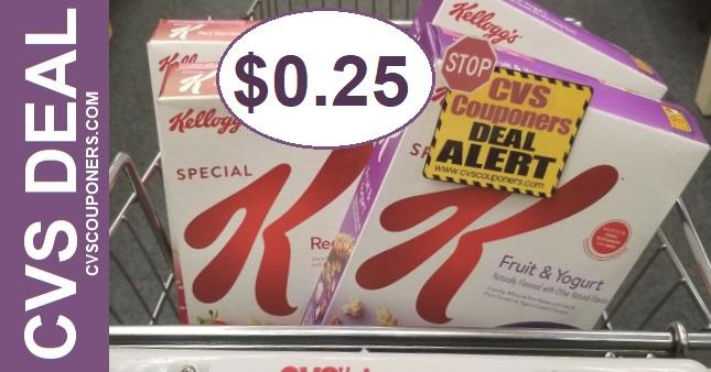 Cheap Kellogg's Cereal at CVS