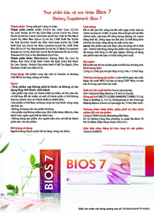 Thực phẩm bảo vệ sức khỏe Bios 7