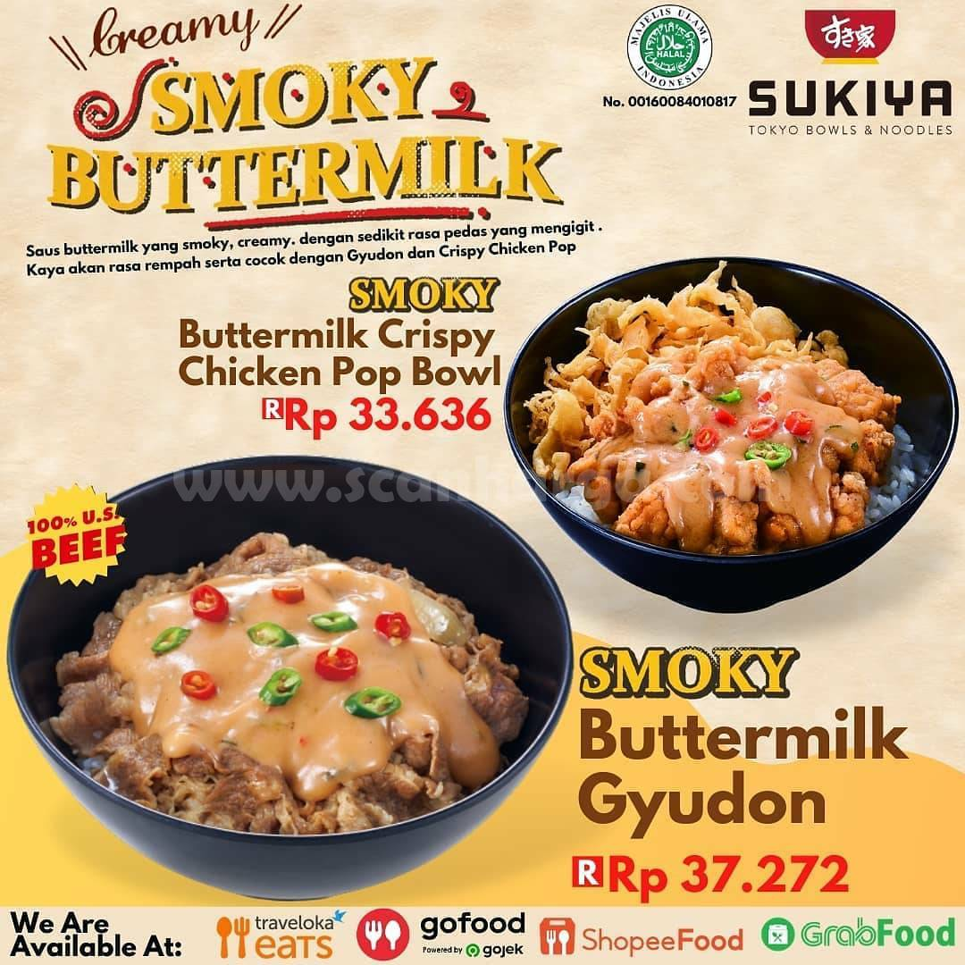 Baru! Sukiya Smoky Buttermilk Harga Spesial hanya Rp. 33.636