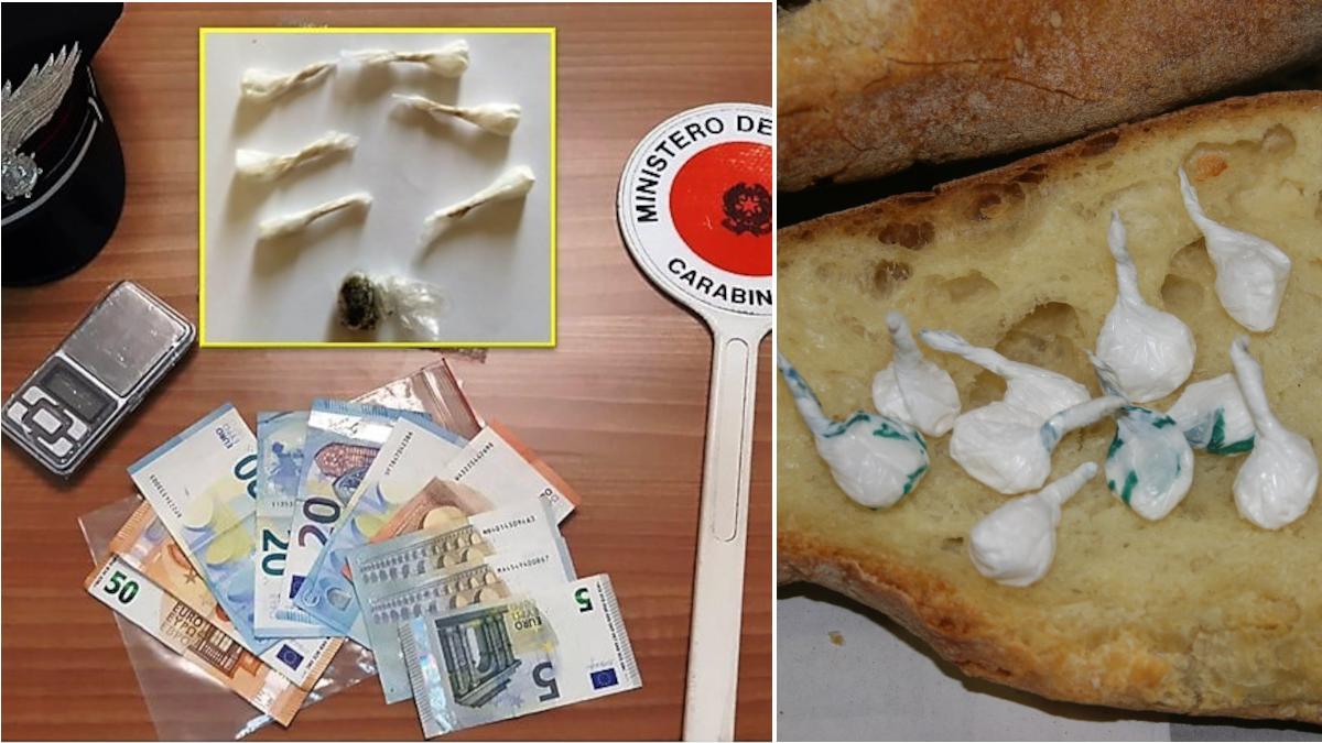 Carabinieri Piedimonte Etneo, droga panificio Reddito Cittadinanza
