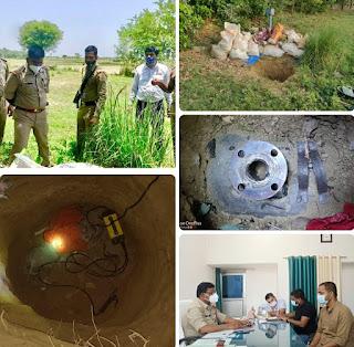 सैफई में चोरों द्वारा रेवाड़ी - कानपुर पाइप लाइन से पेट्रोल चोरी का प्रयास