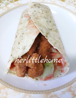 Resepi Chicken Twister Ala KFC