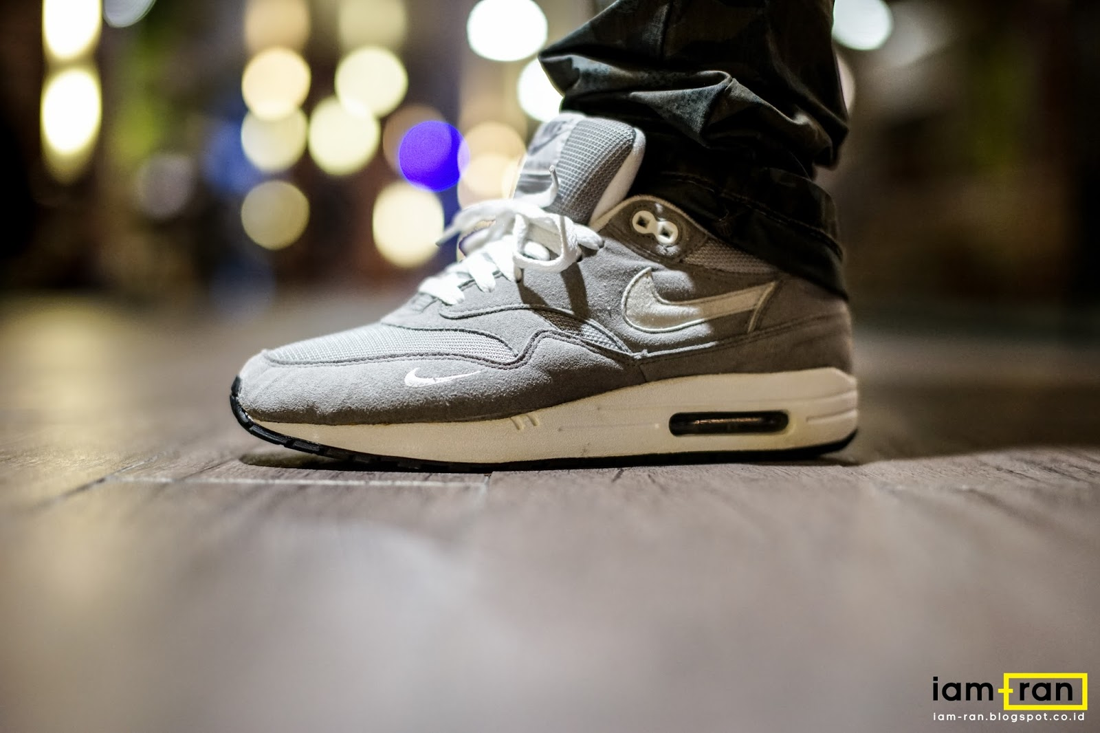 8b853268cf IAM-RAN: ON FEET : Leo - Nike Air Max 1 Gray