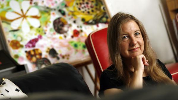 Photo de Janet Fitch, une écrivaine américaine, connue pour son livre Laurier blanc (White Oleander), adapté au cinéma en 2002.