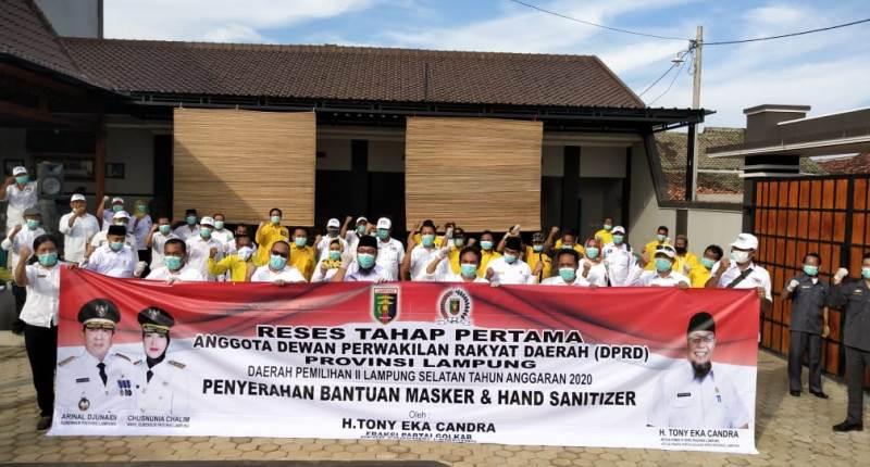 TEC Gelar Reses, Sekaligus Berikan Masker dan Hand Sanitizer pada Masyarakat
