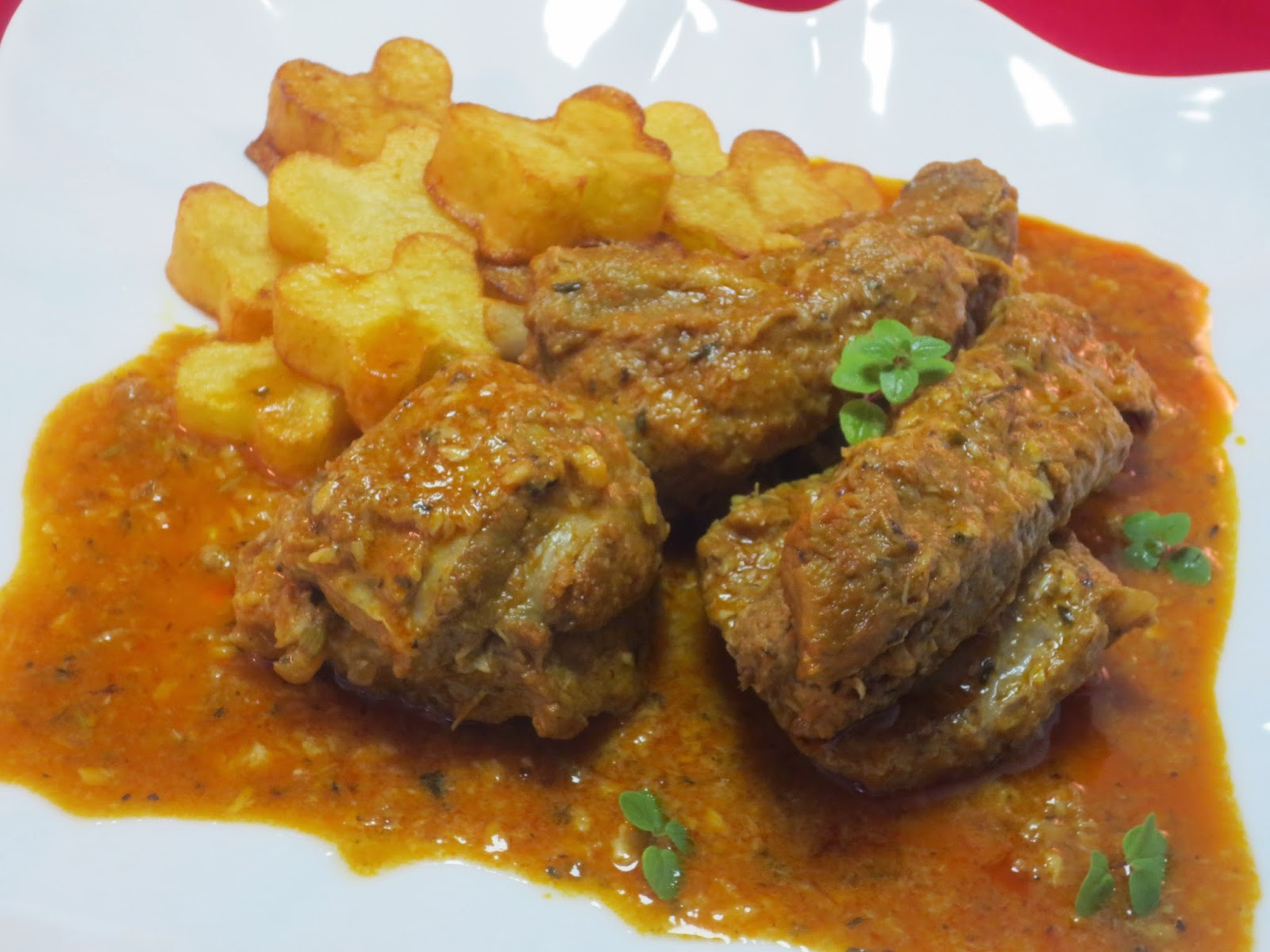 Costillas especiadas con Thermomix