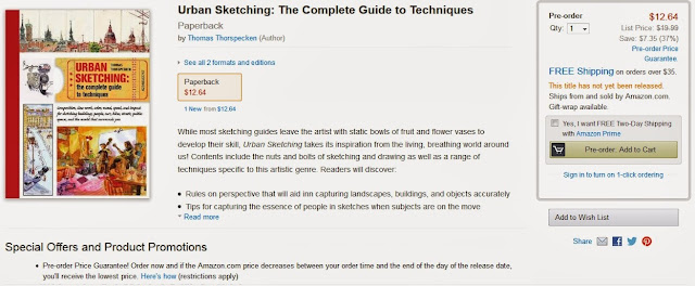 http://www.amazon.com/Urban-Sketching-Complete-Guide-Techniques/dp/1438003412/ref=sr_1_2?s=books&ie=UTF8&qid=1383680475&sr=1-2&keywords=Urban+Sketching+the+complete+guide+to+techniques