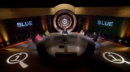 Screenshot from QI season 1, episode 2 'Blue'