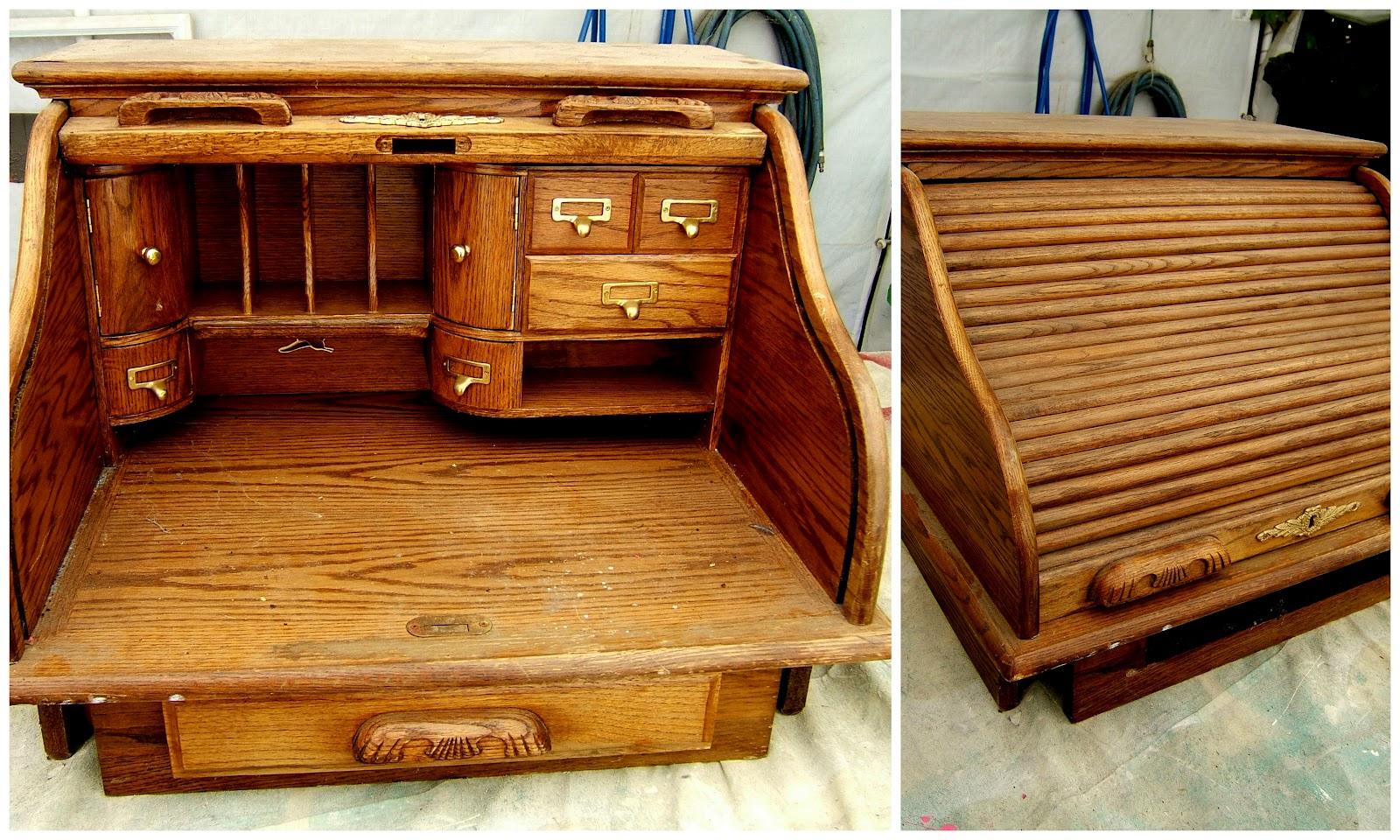 Roll Top Desk Awesome I Pinned This Davenport Roll Top