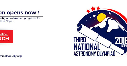 Apply today to be a part of 3rd National Astronomy Olympiad 2016- Nepal!