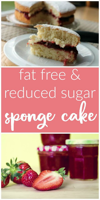 Fat Free and Reduced Sugar Sponge Cake