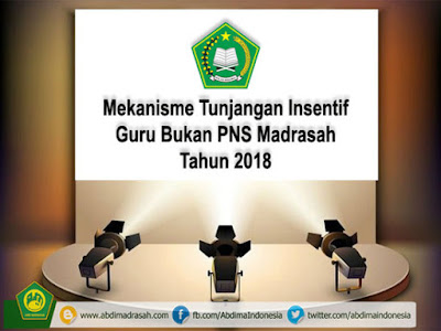 Kriteria dan Mekanisme Tunjangan Insentif Guru Bukan PNS Tahun 2018 Pada Madrasah