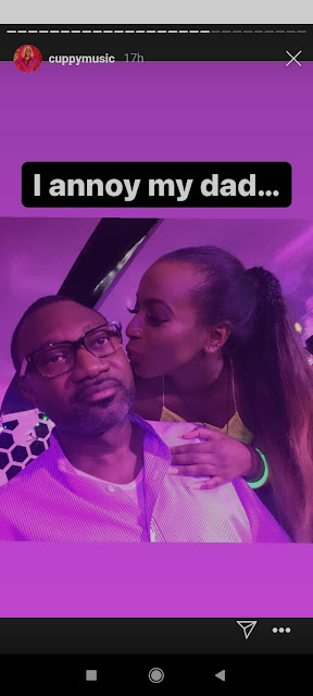 """""""I beg for money from my dad"""" – DJ Cuppy list things she does with her Father (Photo)"""
