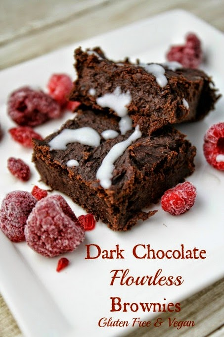 Dark Chocolate Brownies, Flourless and Vegan from Tessadomesticdiva.com