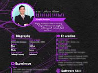 Download Desain Template Resume Atau Curriculum Vitae Gratis Siap Pakai
