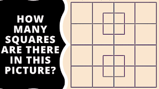 In this picture puzzle, your challenge is to count the number of squares in the given puzzle image.