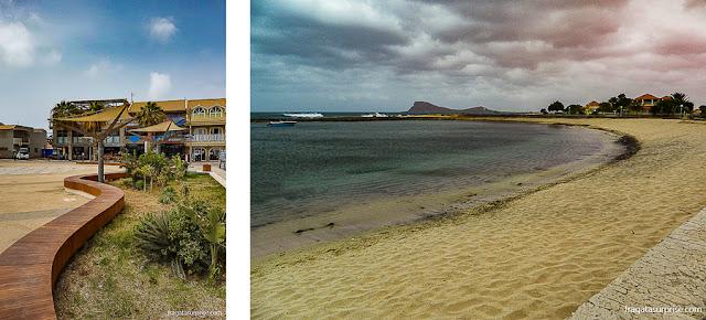 A cidade de Santa Maria e a Vila de Murdeira, Ilha do Sal