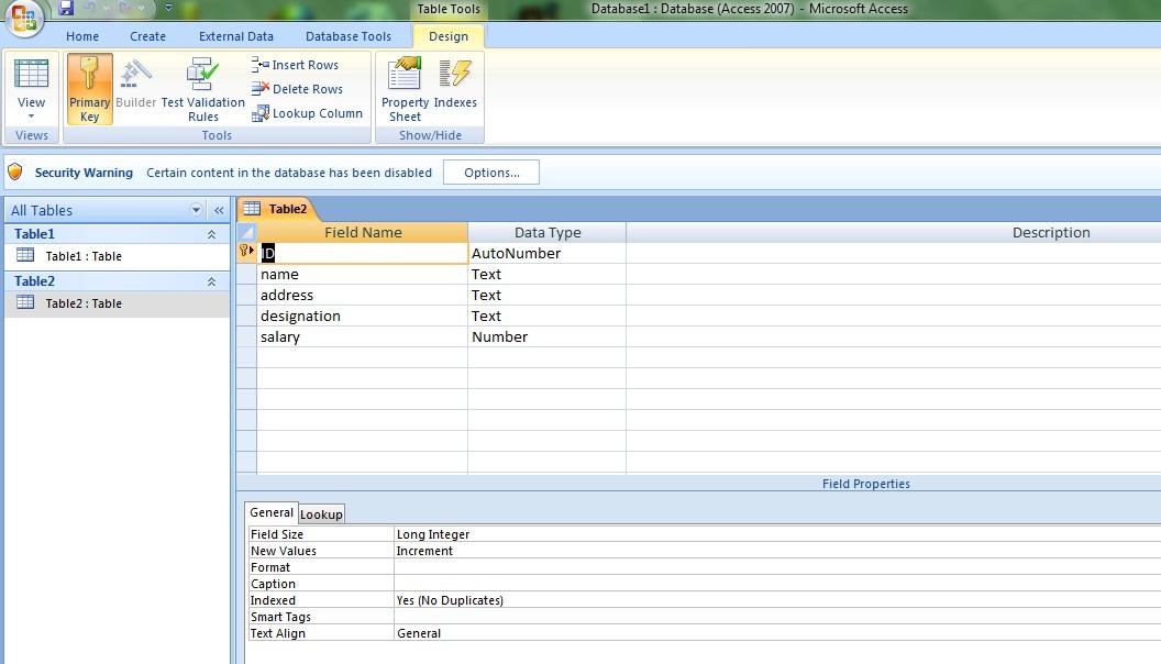 Format integer access