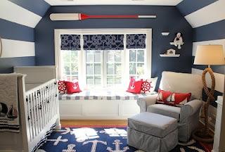 cuarto azul para bebé