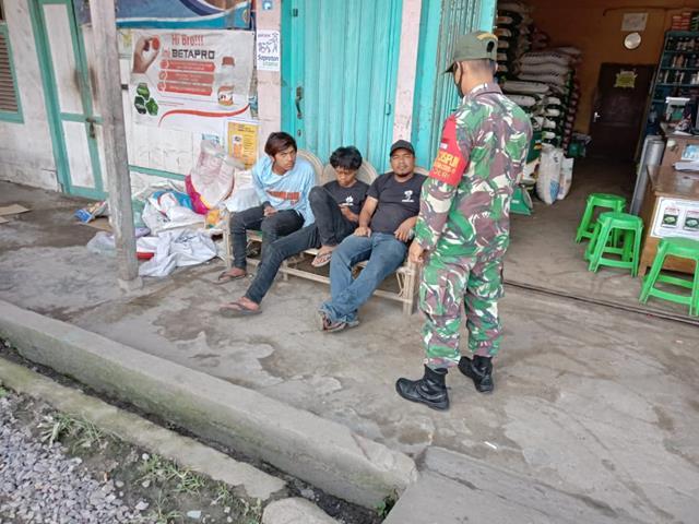 Pelaksanaan Posko PPKM Skala Micro Dilakukan Personel Jajaran Kodim 0207/Simalungun