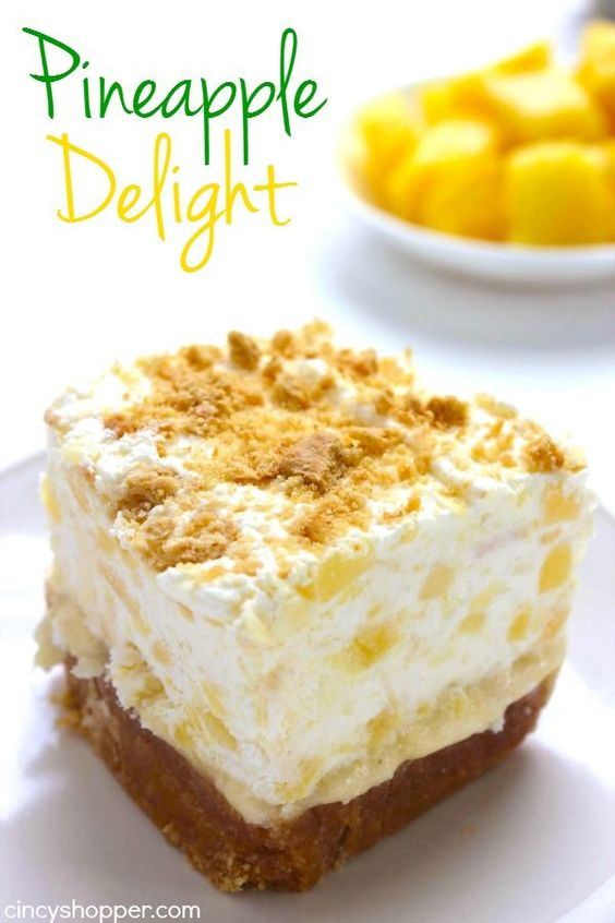 PINEAPPLE DELIGHT #recipes #dessertrecipes #easyrecipes #easydessertrecipes #food #foodporn #healthy #yummy #instafood #foodie #delicious #dinner #breakfast #dessert #lunch #vegan #cake #eatclean #homemade #diet #healthyfood #cleaneating #foodstagram