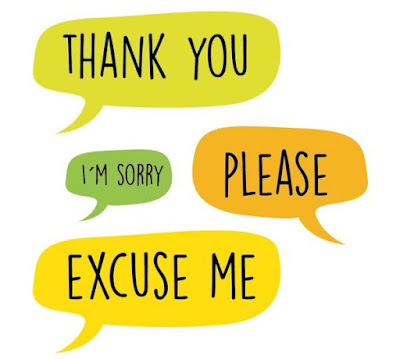 thank you, please, excuse me, sorry
