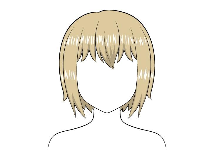 Gambar highlight rambut pendek anime