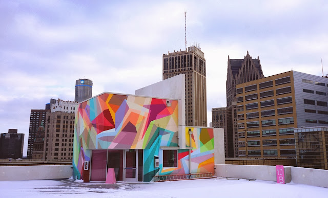 Street Art By Russian Artist Wais1 In Detroit, USA for the Garage Project. 2