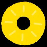 フルーツのマーク(パイナップルの断面)