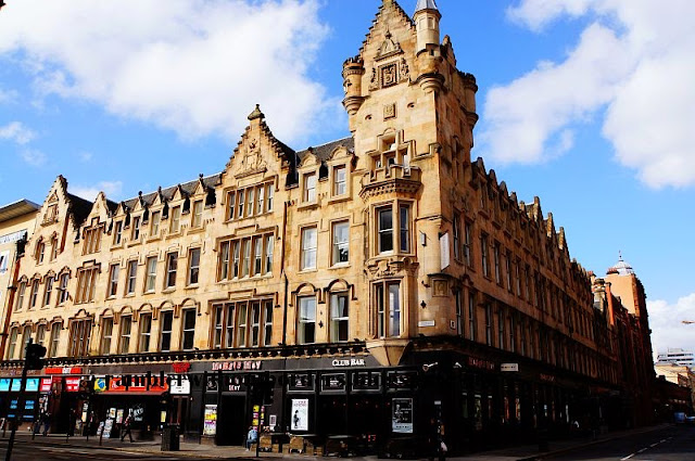 Neo-Gothic building, location of Fraser Suites, Glasgow, Scotland, UK