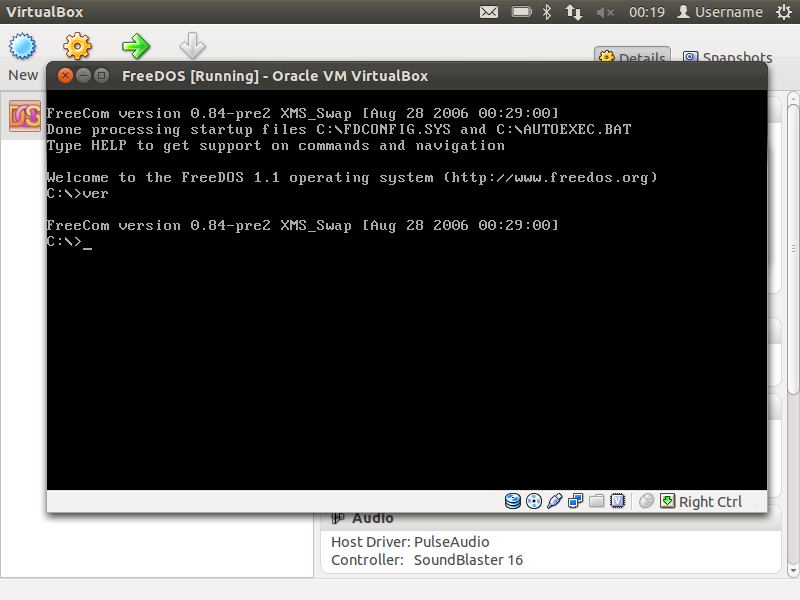 VirtualBox - Virtual Box Linux - Box Information Center