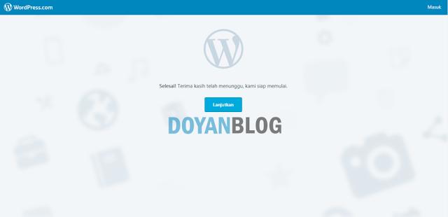 ketujuh pemberitahuan blog telah berhasil dibuat