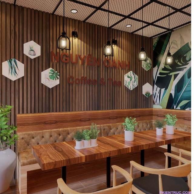 File 3d nội thất quán cafe sách Nguyễn Oanh kèm model share