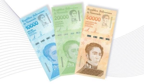 Aviso Oficial BCV: Tres nuevos billetes se incorporan al actual Cono Monetario