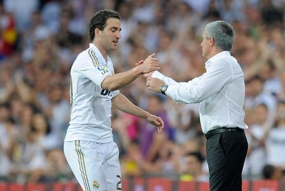 Gonzalo Higuaín worked under José Mourinho at Real Madrid between 2010 and 2013