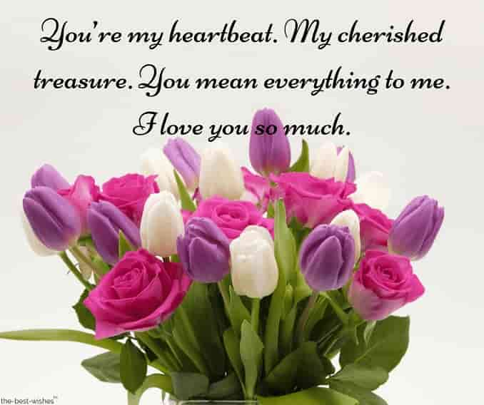 sweet text messages for him with beautiful flowers