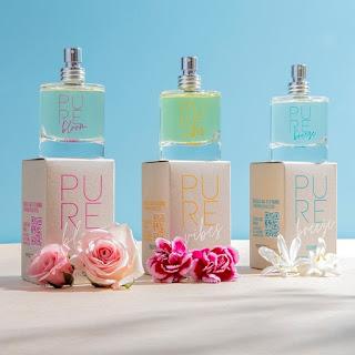 """Fragancias """"Pure Bloom"""", """"Pure Vibes"""" y """"Pure Breeze"""", de la nueva colección de perfumes """"Pure"""" de Cyzone."""