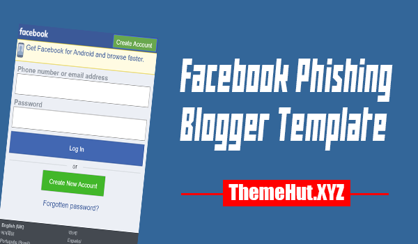 Facebook Phishing Blogger Template