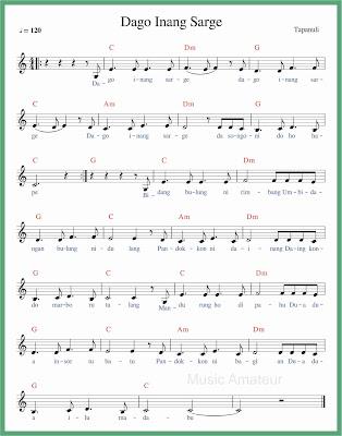 not balok lagu dago inang sarge