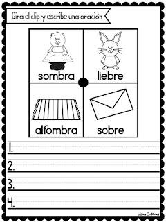 Palabras Trabadas Para niños de primaria