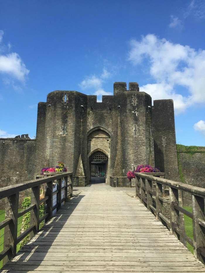 Entrance to Caerphilly castle