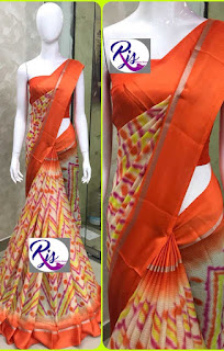 Kota cotton sarees with unstiched running blouse
