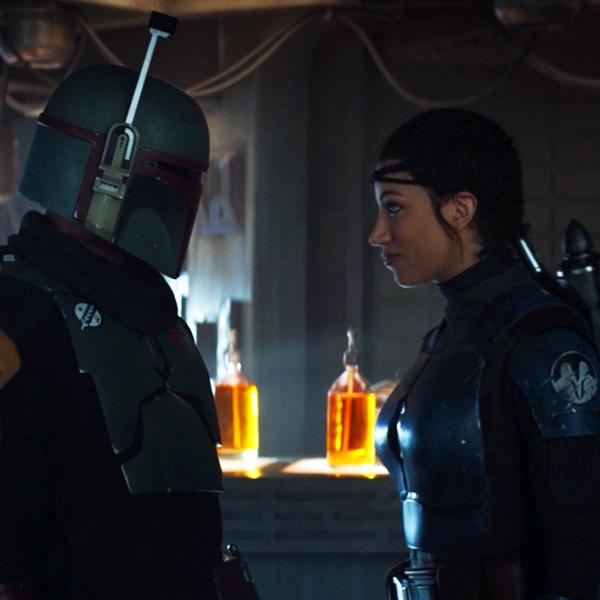 Boba Fett (Temuera Morrison) and Koska Reeves (Mercedes Varnado) in THE MANDALORIAN - Chapter 16: The Rescue.