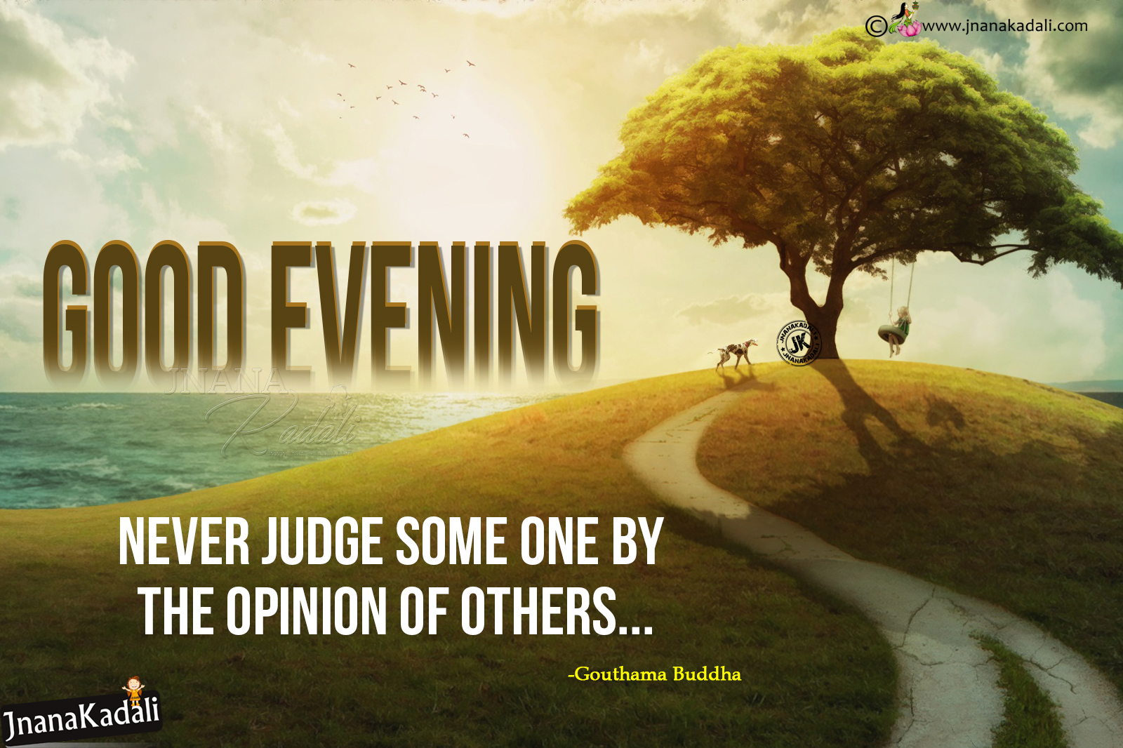 English Quotes Life Good Evening Greetings In English With Gautama Buddha